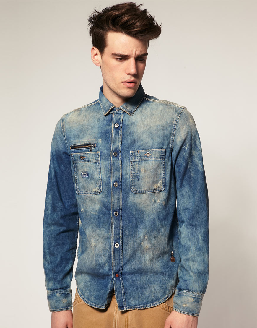 Une chemise Denim Diesel