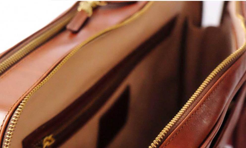 La portegna sac en cuir de près