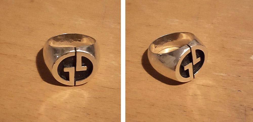 A relatively old Gucci silver ring.. Got this badboy for so little that i almost felt i was stealing.