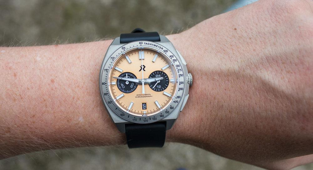 RZE Valour on the wrist